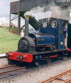 narrow gauge engine at a slate quarry in Wales