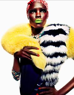 Grace Bol for Plastique Magazine. Dark African Beauty, radient, beautiful.