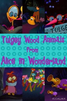 Obscure Disney Character Week | (2/?) Tulgey Wood Animals from Alice In Wonderland. ""