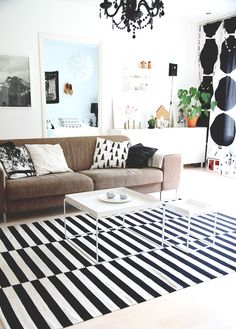 HUANAJAISTA OLOHUONE LIVINGROOM BLACK AND WHITE HOME DECORATION HAY MARIMEKKO
