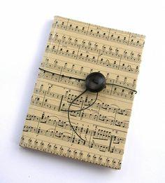 vintage music notebook