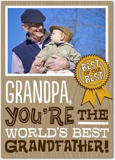 Personalized Father's Day cards for Grandpa.   Treat.com