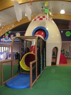 George Spaceship PlayZone at Peppa Pig in Paulton's Park in the UK - indoor soft…