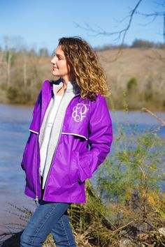 Monograms, the Southern staple. Shirt - Target // Gray vest - Charles River Apparel Heathered vest c/o // Raincoat - Charles River Apparel New England Raincoat c/o Charles River, Grey Vest, Monogram Styles, Lifestyle Blog, Rain Jacket, Windbreaker, Raincoat, Stylists, Southern