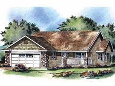 Eplans Bungalow House Plan - Three Bedroom Bungalow - 1236 Square Feet and 3 Bedrooms from Eplans - House Plan Code HWEPL61235