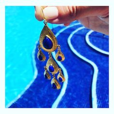 Lapis earrings silver gold plated jewelry #antoniakarra