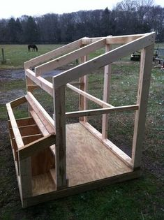 Shed roof chicken coop