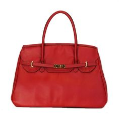 Petote Katie Bag Leather Dog Carrier - Red