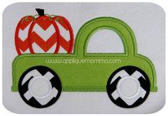 Pumpkin Truck2 Applique Design