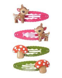 Deer Mushroom Snap Clip Four-Pack