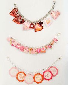 Heart Sticker Bracelet #diy #jewelry #bracelet jewelry-craft jewellery