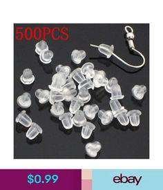 Plastic Earring Backs Stoppers Soft Rubber Findings 500pcs Dome Shaped Ear Post