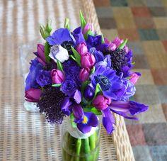Iris, Anonome and Tulip bouquet