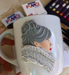 1 million+ Stunning Free Images to Use Anywhere Polymer Clay Figures, Cute Polymer Clay, Polymer Clay Dolls, Polymer Clay Crafts, Handmade Polymer Clay, Crafts To Do, Hobbies And Crafts, Cute Mug, Biscuit