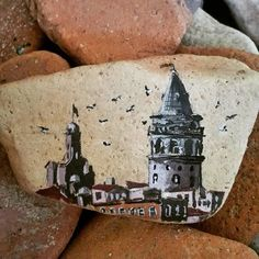 Galata kulesi #art #artist #drawing #illustration #tasboyama #rockpainting…