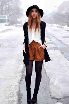 Love the tights with the shorts
