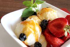 Zmrzlina ze pšeničné krupicové mouky