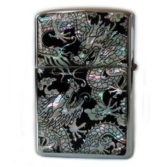 Mother of Pearl Handmade Double Dragon Design Zippo Style Black Pocket Oil Cigarette Tobacco Smoking Camping Lighter: Amazon.ca: Health & Personal Care
