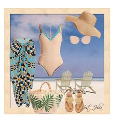 """swim swim baby"" by jost-julia ❤ liked on Polyvore featuring Vanda Jacintho, kiini, River Island, Bettye, Topshop and Old Navy"