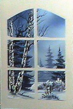 Bob Ross Through the Window