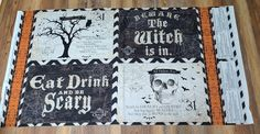 Something Wicked Vintage Halloween Placemat/Pillow Halloween Runner, Halloween Placemats, Something Wicked, Wilmington Prints, Vintage Halloween, Cotton Fabric, Pillows, Frame, Etsy