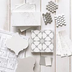 color scheme: white wood floors, arabesque tile, small penny tile and white subway tile Interior Design Boards, Master Bath Remodel, My New Room, Tile Design, Pattern Design, Bathroom Inspiration, New Homes, House Design, Flooring
