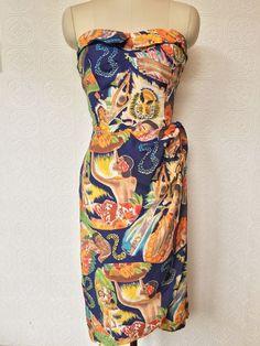 1940s Hawaiian  Frank Mcintosh Rayon  Hawaiian Dress #Hawaiian