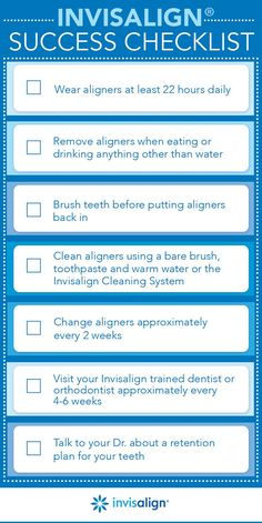 Just getting started with alternative orthodontic treatment? Check out this Invisalign checklist to make sure you're taking the right steps every day – then, read our tips below for a little more motivation and guidance.