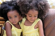 natural hair natural hair natural hair! is anyone cuter than these little doll babies?!