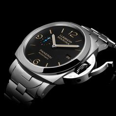 Officine Panerai  Unveiling two #LuminorMarina 1950 3 Days Automatic with a new metal bracelet, each link being inspired by the iconic #Panerai bridge.
