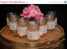 ON SALE Wedding decor shabby and chic by CraftyDivaBoutique, $35.00