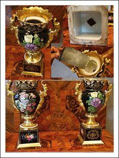 Coppia vasi Vecchia Parigi, epoca 1840