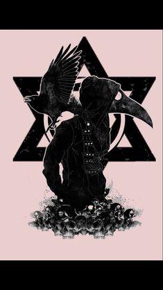 Jewish tattoo, plague doctor