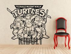 Teenage Mutant Ninja Turtles Characters Wall Sticker Wall Decals Vinyl Wall Art Bedroom Flat Home Boy Room Decoration Videos