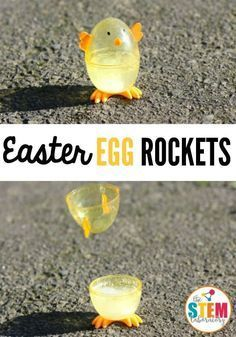 I love these Easter egg rockets! What an awesome science experiment for kids. Perfect science activity for spring or Easter. I love these Easter egg rockets! What an awesome science experiment for kids. Perfect science activity for spring or Easter. Kid Science, Preschool Science, Science Activities, Summer Science, Physical Science, Earth Science, Science Chemistry, Science Education, Science Ideas