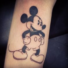 Did this for Edwards first tattoo, he has been to disneyland 64 times in 22 years and has written a book about Walt Disney. He was a walking encyclopedia of Disney.