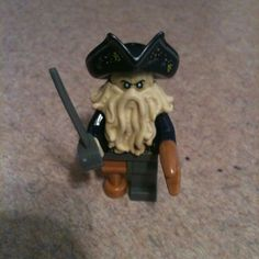 Lego Pirates Of The Caribbean 4184 Black Pearl Davy Jones With Sword New Davy Jones, Pirates Of The Caribbean, Sword, Lego, Pearls, Ebay, Black, Black People, Beads