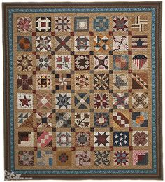 """Circle of Friends"" Civil War Sampler with blocks made by quilters from all over the USA and world - as a ""Thank You"" gift to Barbara Brackman, for her Civil War quilt blog 2011"