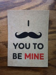 Yes, I mustache you