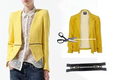 ::: OutsaPop Trashion ::: DIY fashion by Outi Pyy :::: DIY Burberry Prorsum Inspired Zipper jacket