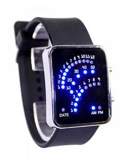 Fashion Blue Light Creative Men Women Cool LED Watch
