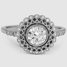 Exceptional vintage inspired engagement ring.