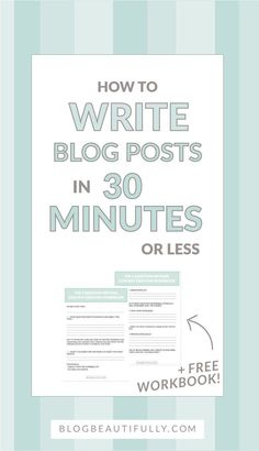 Think you can't write a blog post in less than 30 minutes? Think again! Write speedy blog posts with my secret 5 Question Method! http://BlogBeautifully.com