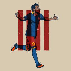 """NEYMAR. """"HE Marketing F.C."""" Illustrations for ICON Magazine third issue from El País. The article talks about how football players have become marketing products."""