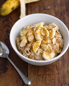 Honey nut steel cut oats and bananas