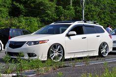 Acura TSX Wagon on Cayenne Sport wheels