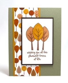 Hi all: Today I have another Fall card for you using some older Gina K. Designs products. When I first start a new season of cards I usually try to start with leftover pieces from the previous year...