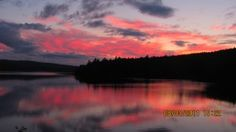 Sunset on Holeb Pond near Jackman, Maine on the Northern Forest Canoe Trail. Photo: Northern Forest Canoe Trail
