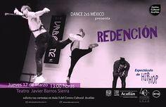 Danza: Redención. Teatro Javier Barros Sierra. Jueves 17 de marzo, 13:00 horas. Solicita tus cortesías en el Centro Cultural Acatlán.