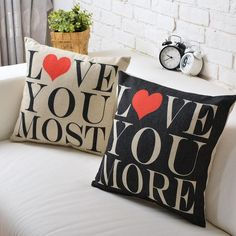 Love pillow cover, Love pillow case, Wedding Valentine's day gift throw pillow case pillowcase wholesale #Affiliate